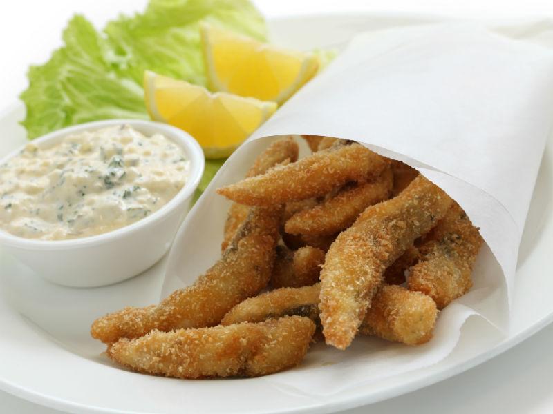 Crispy fish sticks with garlic dipping sauce recipes for Dipping sauce for fish sticks